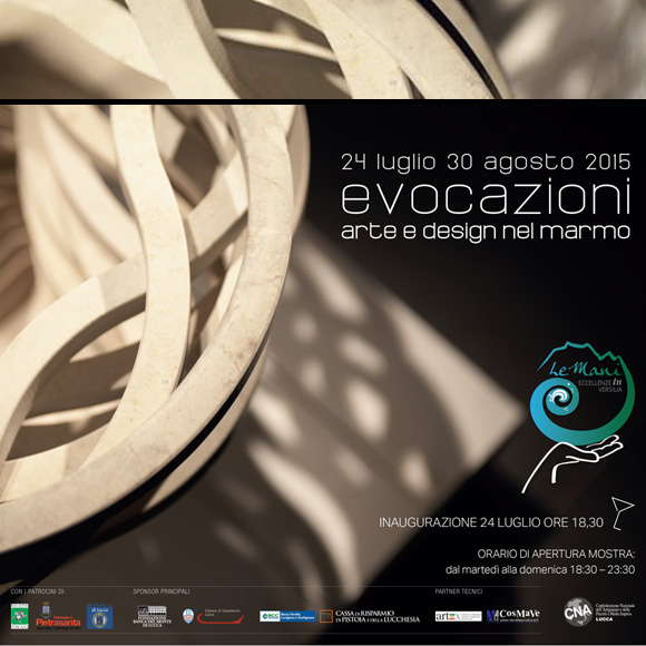 """Evocazioni"". (Evocations) Marble art and design"