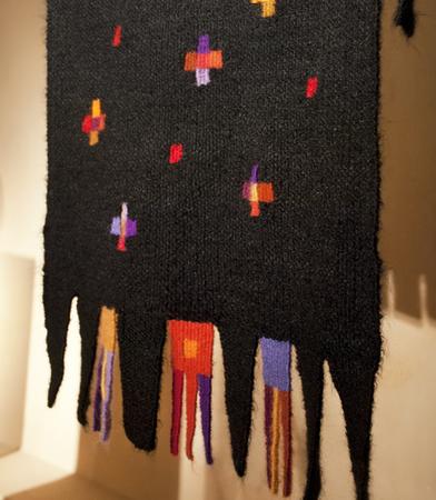 Stola nera color 60 x 220 cm Pura lana, mohair super kid